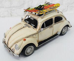Jayland 1:12 Decorative VW Beetle 1200 Classic Die-Cast Model Car Beige Figure