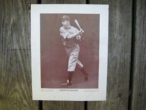 """1930's Joe Di Maggio Baseball Magazine Poster - Photo / CM Conlin / 9 1/2"""" x 12"""""""