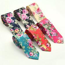 Adjustable Men's Slim Skinny Wedding Groom Party Necktie Print Floral Neck Tie