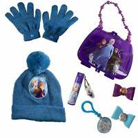 Disney Frozen 2 Girls Elsa Anna Knit Beanie Gloves 2-Piece Set Hat/cosmetic set