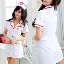 Sexy Lencería Mujer Enfermera Disfraz Cosplay Vestido Conjunto Traje de Ropa