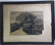 """Antique Wallace Nutting """"Between The Blossoms"""" Pencil Signed Southbury 1904-1910"""