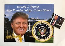 "Donald Trump 45th President 81/2""x11 on Card Stock Photo Portrait Picture +Decal"