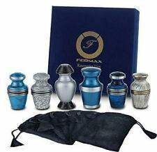 Fedmax Small Decorative Keepsake Cremation Urns - 6 Urns