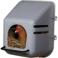 LARGE WALL MOUNT NESTING NEST BOX WITH PERCH FOR CHICKEN COOP HEN HOUSE POULTRY