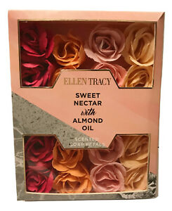 Ellen Tracy Sweet Nectar with Almond Oil Scented Soap Rose Petals Box