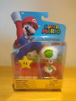 New Super Mario Toy Figure Character Green Toad With Super Star Nintendo Jakks