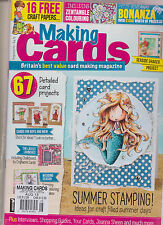 MAKING CARDS MAGAZINE AUGUST 2015, SEALED WITH 16 FREE CRAFT PAPERS.