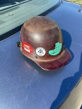 Vintage Msa Skullgard Hard Hat Fiberglass Helmet Iron Worker Construction Usa