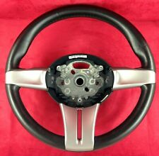 Genuine OEM BMW Z4 E85 E86 coupe leather steering wheel, silver trims.    2C