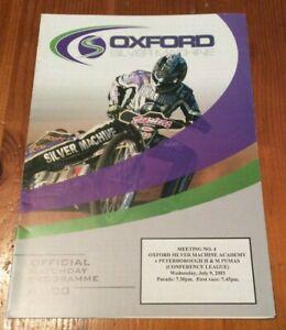 2003 OXFORD ACADEMY v  PETERBOROUGH PUMAS 9th JULY       ( GOOD CONDITION )