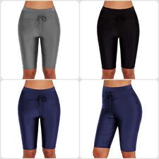 Ladies Women Plus Size Long Swim Pants Shorts Beachwear Tankini Bottoms Swimwear