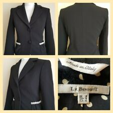 Stunning Womens L.K Bennett Black lined Jacket blazer Italian Smart Formal UK 8
