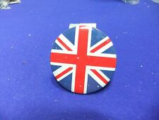 vtg tin badge union flag patriotic backing britain 1960s mods royal souvenir