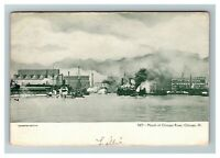 Mouth of Chicago River, Chicago IL c1905 Postcard