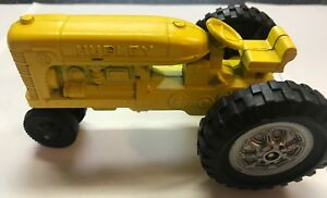 """Vintage Hubley Diecast Metal Toy Tractor """"Kiddie Toy"""" Yellow Made in USA"""