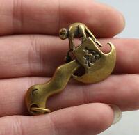 42MM China Fengshui Bronze 12 Zodiac Animal Monkey Axe Ax Amulet Pendant Statue