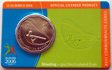 2006 XVIII Melbourne Commonwealth Games 50 Cent Coin - Shooting
