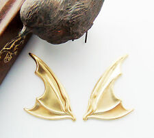 BRASS Gothic (1 Pair) Bat Wings Stamping - Jewelry Findings (C-1408)