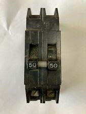 Zinsco Gte Sylvania Type Q 2 Pole 50 Amp 240V Circuit Breaker Thick Profile