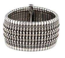 750 925 Sterling Silver KONSTANTINO Hera CUFF Bracelet bangle WIDE OPenable