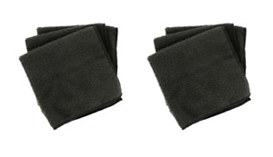 Black Microfiber Washcloths Set of 8 Ultra Soft Luxurious Face Cloth 11inx11in