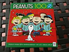 "New Peanuts Gang  Puzzle ""Caroling"" 100 Piece 15"" X 11"" Finished Size Ceaco"