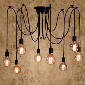 Black DIY small Chandelier E26/E27 LED Pendant lamp Ceiling light Hanging lights