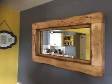 Mirror Rustic Wooden Farmhouse Mirror Reclaimed Wood Light oak English Oak Wax