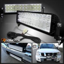 """2pc 72W 14"""" 24 LED Flood Work Fog Light Bar Alloy 6000K+Wiring Truck Car Jeep"""