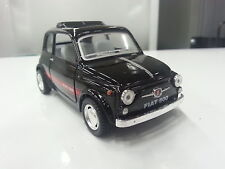 FIAT 500 black kinsmart TOY model 1/24 scaleNEWdiecast Car gift