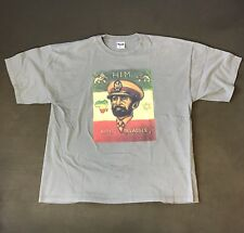 Vintage Haile Selassie Emperor King Ethiopia Africa T-Shirt Men's XXL Cooyah
