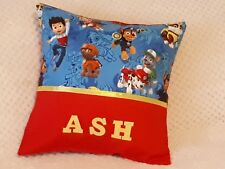 PAW PATROL - Child's/Boys/Girls Personalised Name Character Cushion Cover -