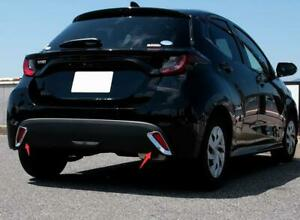 For Toyota Yaris 2020 2021 Rear Bumper Fog Lamp Reflector Cover Trim ABS Chrome