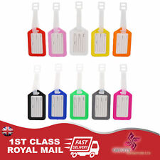 10x TRAVEL LUGGAGE TAGS LABELS FOR BAGGAGE HANDBAGS SECURE SUITCASE TAG