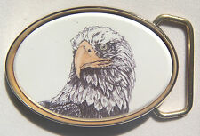 Belt Buckle Barlow  Photo Reproduction in Color Traditional Eagle Head 590142c