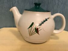 DENBY MADE IN ENGLAND TEAPOT-GREENWHEAT/SIGNED