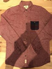 Mens Hollister Red Work Wool Shirt Size Medium Immaculate Condition