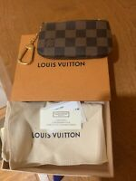 NEW LOUIS VUITTON Key Pouch Cles Damier Ebene Coin Card Gift 2020 N62658 A588