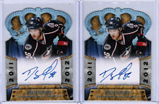 11/12 CROWN ROYALE DAVID SAVARD #161 ROOKIE ROYALTY AUTO RC LOT (2) COLUMBUS CBJ