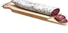 Imperdibile tagliere salame legno di faggio cm 37x7,5x2 base per taglio cucina
