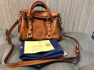Authentic NEW  $398 Dooney & Bourke Florentine Satchel Natural Leather