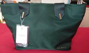 Ted Baker Nylon Small Tote Bag Green BNWT
