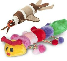 BARRY & CLEO - (2 toys) - Danish Design Dog Bug Caterpillar dd PawMits Plush Toy