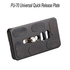 """NEW PU-70 Universal Quick Release Plate Bracket 1/ 4"""" Screw for Benro Arca Swis"""