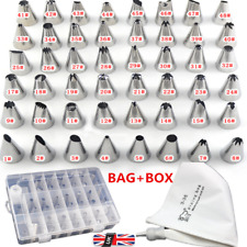 42pcs Pastry Cake Decorating Nozzles Tips Set Kit for Icing Piping Bag Tool uk