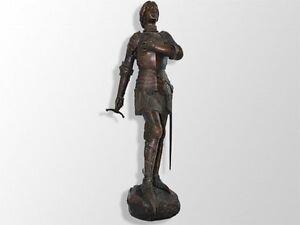 grande statue en fonte Jeanne D'arc