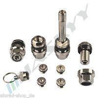 4x SILBER UNSICHTBARE Metallventile Stahlventile Felgen Ventile Alufelgen 11,3mm