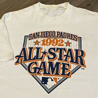 San Diego Padres T Shirt Mens Large Vintage 90s MLB Baseball All Star Game 1992