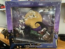 More details for nightmare before christmas jack in santa sleigh figurine limited edition